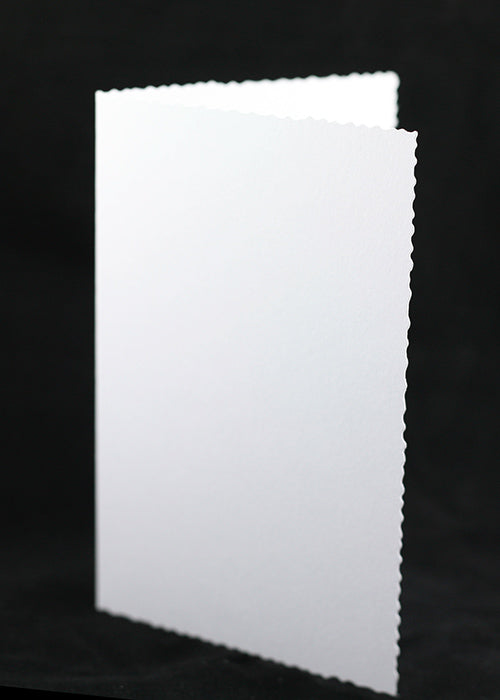 White Basic Deckle Edged Card