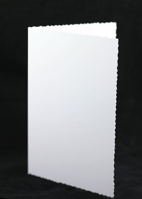 White High Grade Deckle Edged Card