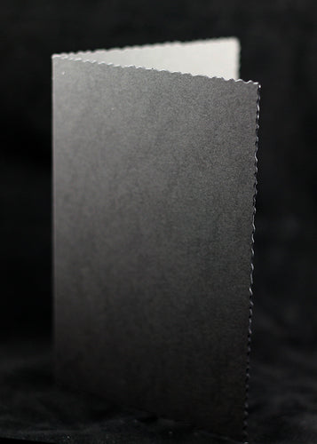 Black Deckle Edged Card