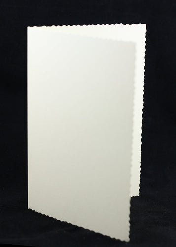 Cream Deckle Edged Card