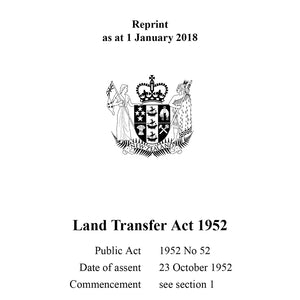 Land Transfer Act 1952