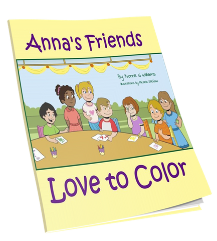 Anna's Friends Love to Color