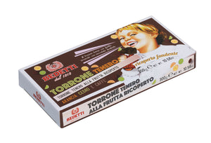 Torrone - Soft Nougat, Hazelnuts & Fruit covered in Dark Chocolate