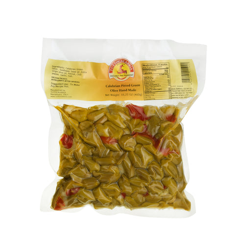 Calabrian Pitted Green Olives