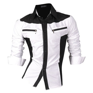 Men's Monochrome Slim Fit Shirt