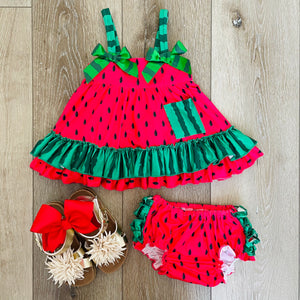 WATERMELON SWING DRESS SET