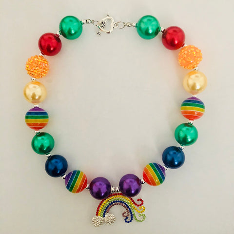 RAINBOW FUN BUBBLEGUM NECKLACE