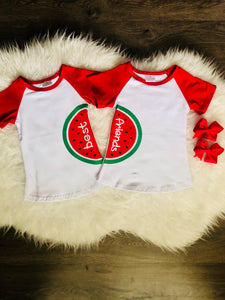 BEST FRIENDS WATERMELON TOP {4T, 8}