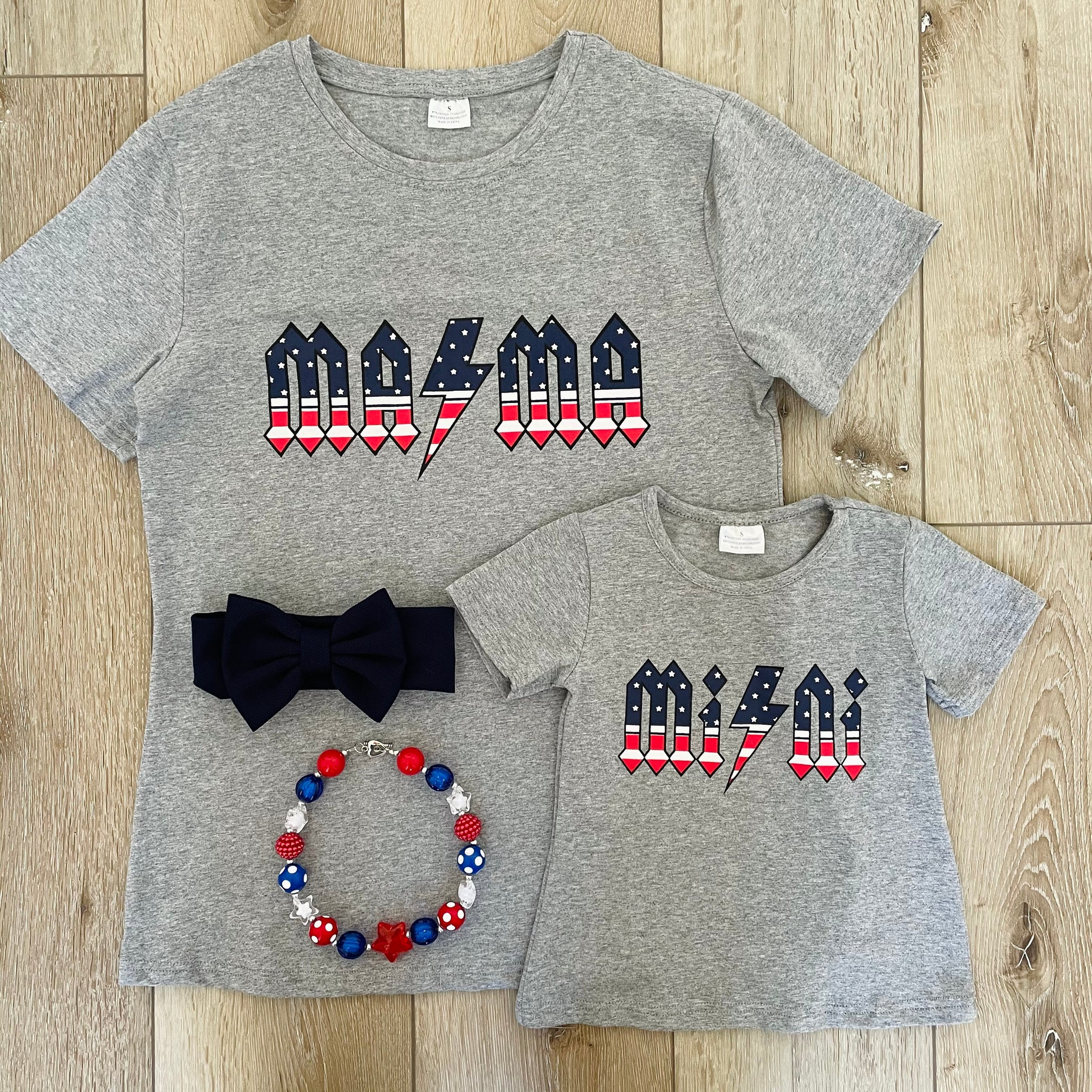 MOM AND ME-MAMA AND MINI STARS AND STRIPES