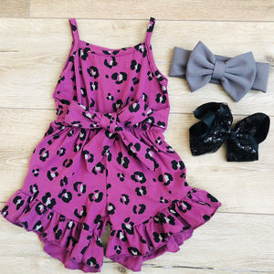 PLUM PURPLE LEOPARD ROMPER