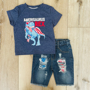 AMERISAURUS REX PATRIOTIC DENIM SET