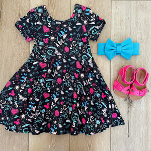 ABC SCHOOL TIME CHALKBOARD DRESS