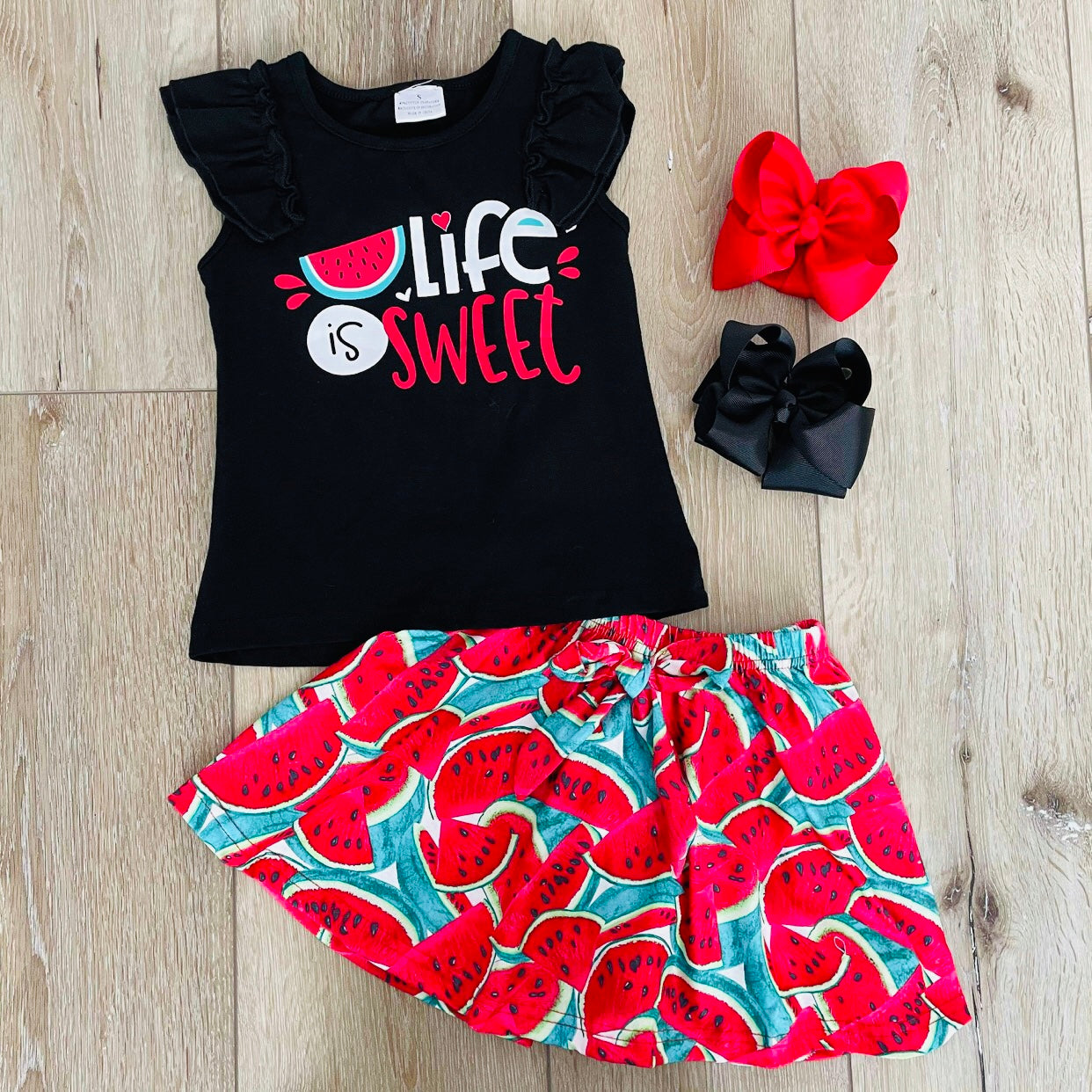 LIFE IS SWEET WATERMELON SKIRT SET