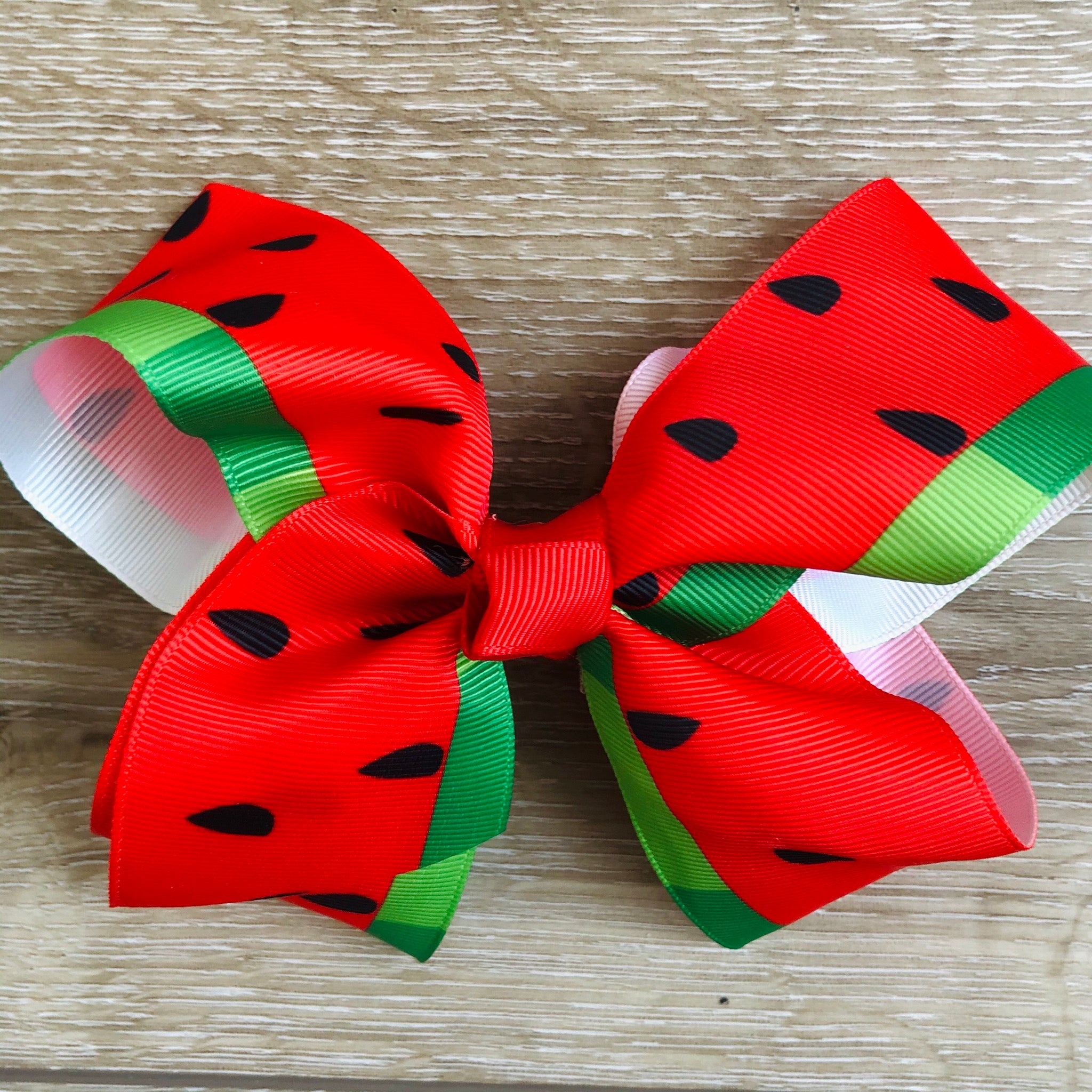 WATERMELON 2 X 4 INCH BOUTIQUE BOW