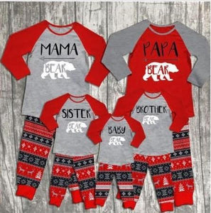 FAMILY BEAR HOLIDAY FUN PAJAMAS