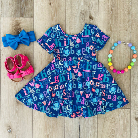 ALPHABET FUN SCHOOL DRESS