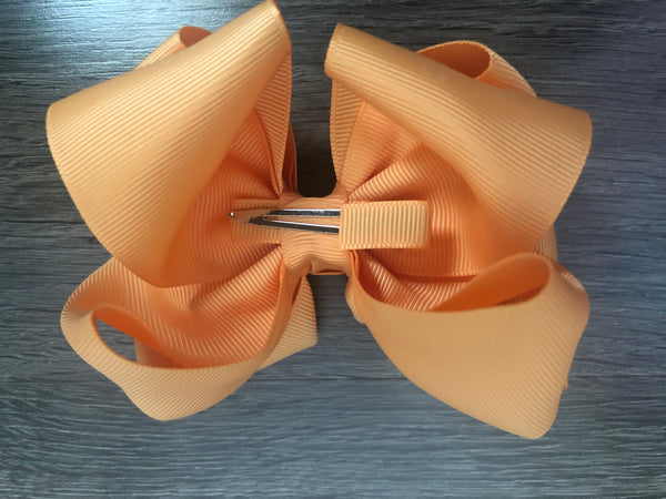 ORANGE CREAMSICLE 4 AND 5 INCH DOUBLE BOW