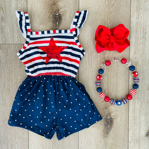 STARS AND STRIPES SEQUIN ROMPER