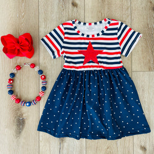 STARS AND STRIPES SEQUIN DRESS