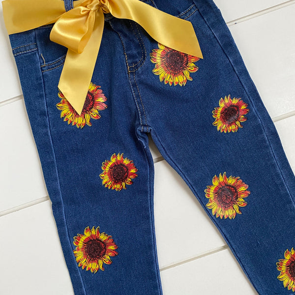 STAY WILD SUN CHILD DENIM PANT SET