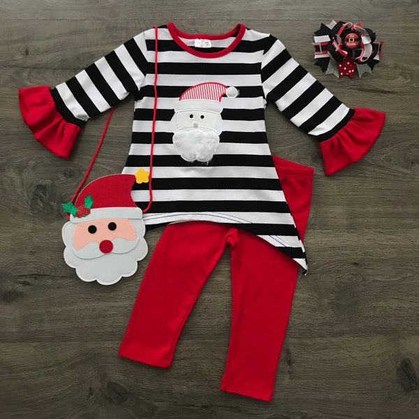 SANTA CLAUS CLASSIC STRIPED HOLIDAY BOUTIQUE SET