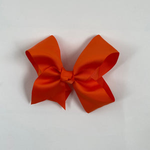 BRIGHT ORANGE 2 X 4 INCH BOUTIQUE BOW