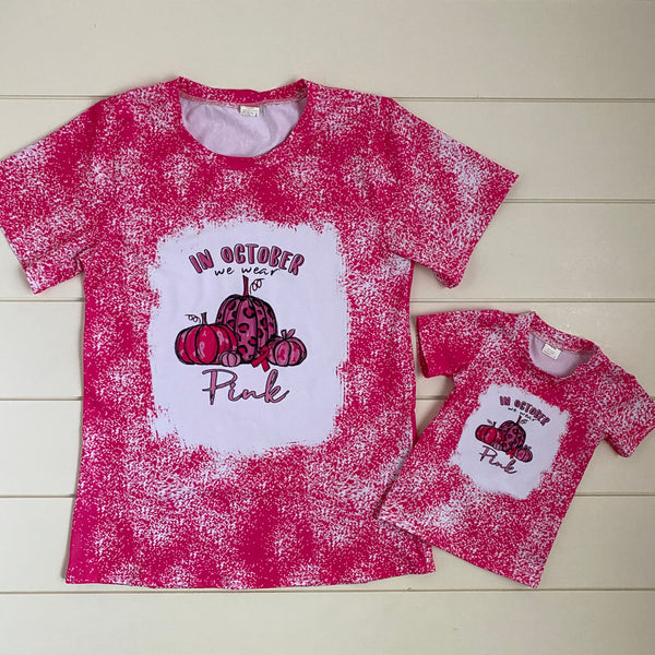 IN OCTOBER WE WEAR PINK MOMMY AND ME TOP