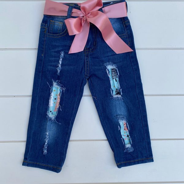 WINTER WONDERLAND TIE KNOT DENIM PANT SET