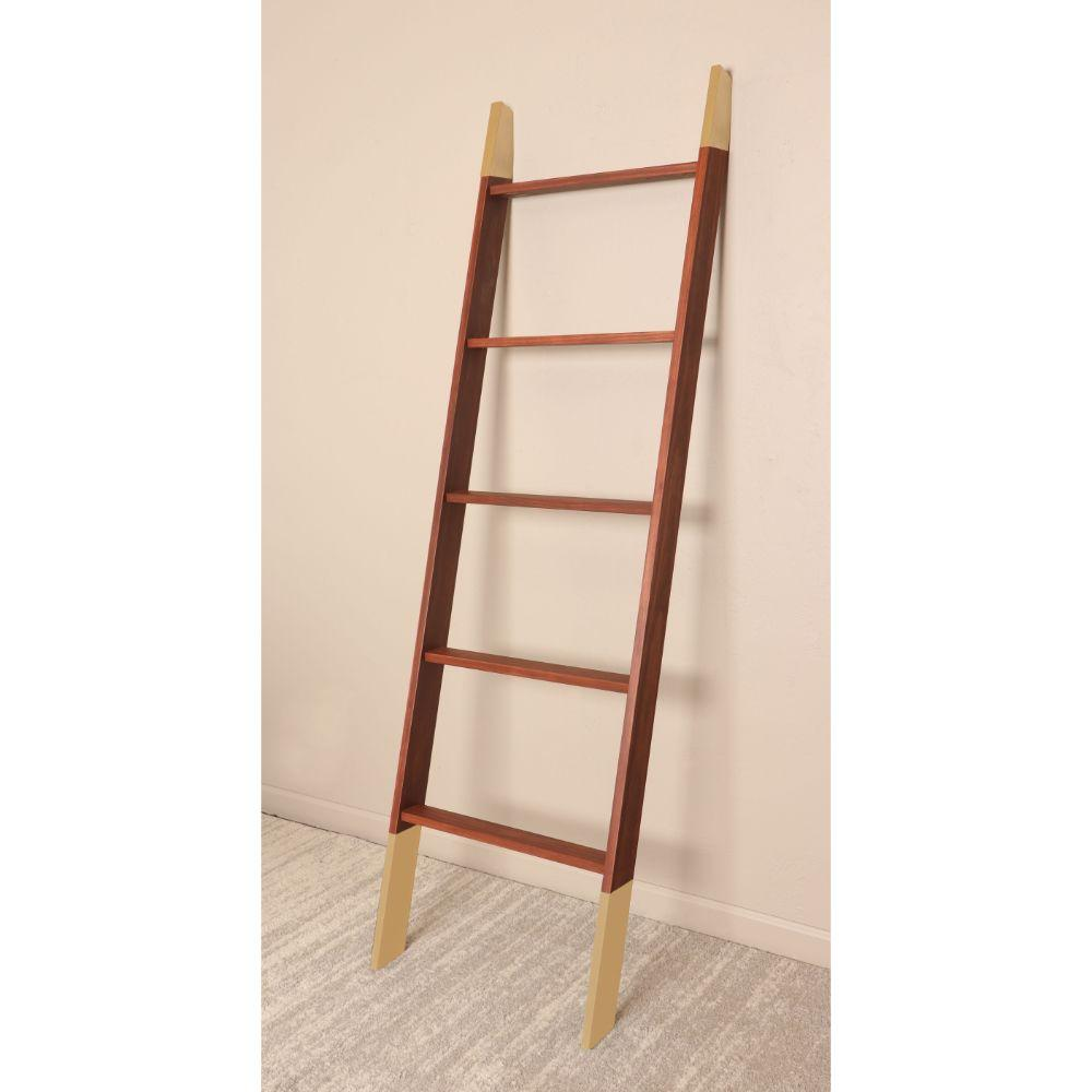 Chestnut with Gold Accents Blanket Ladder 20'' x 72''