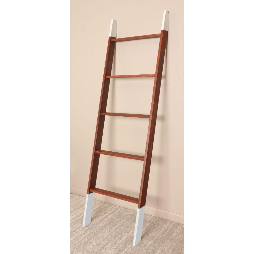 Chestnut  with White Accents Blanket Ladder 20'' x 72''