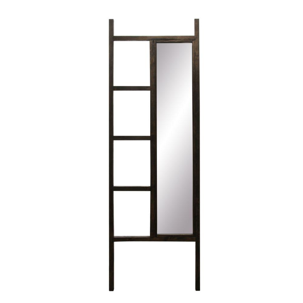 Ebony Leaning Mirror Ladder 23.25'' x 72''