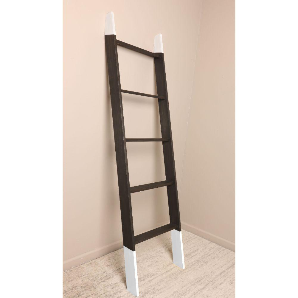 Black with White Accent Blanket Ladder 20'' x 72''