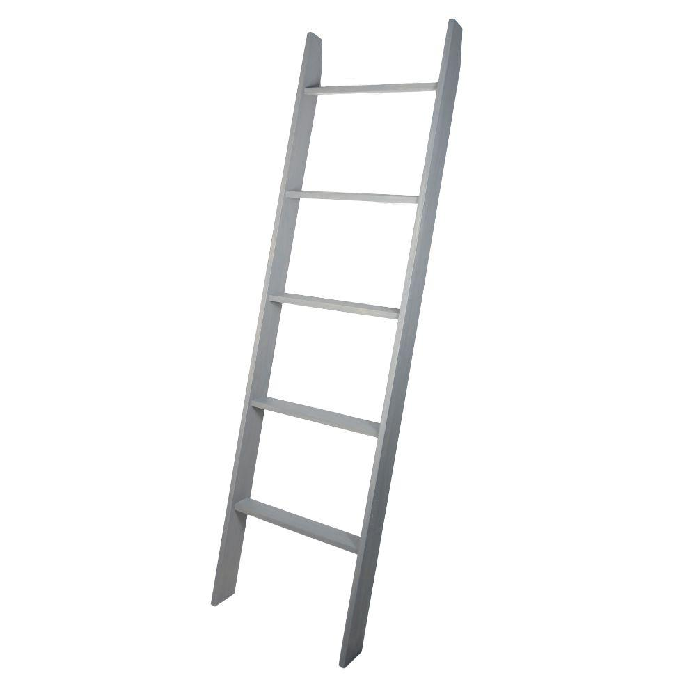 Weathered Gray 72 in. Decorative Blanket Ladder 20'' x 72''
