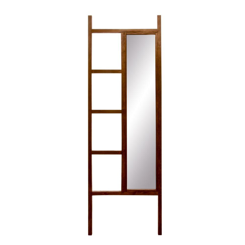 Carrington Walnut Leaning Mirror Ladder 23.25'' x 72''