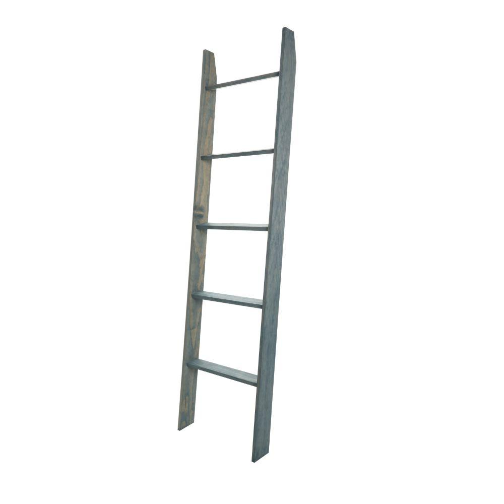 Weathered Blue Beach Ladder 20'' x 72''