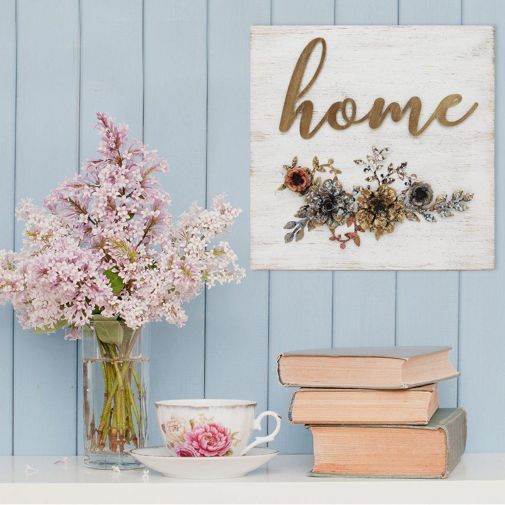 """Home"" Cottage Wall Decor (15.75""X2""X15.75"")"