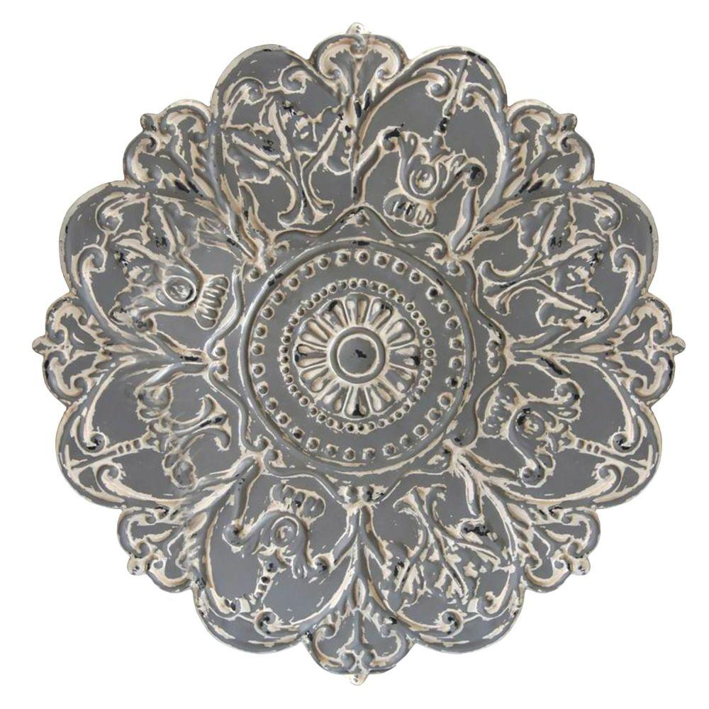 "Gray Medallion Wall Decor (28""X0.75""X28"")"