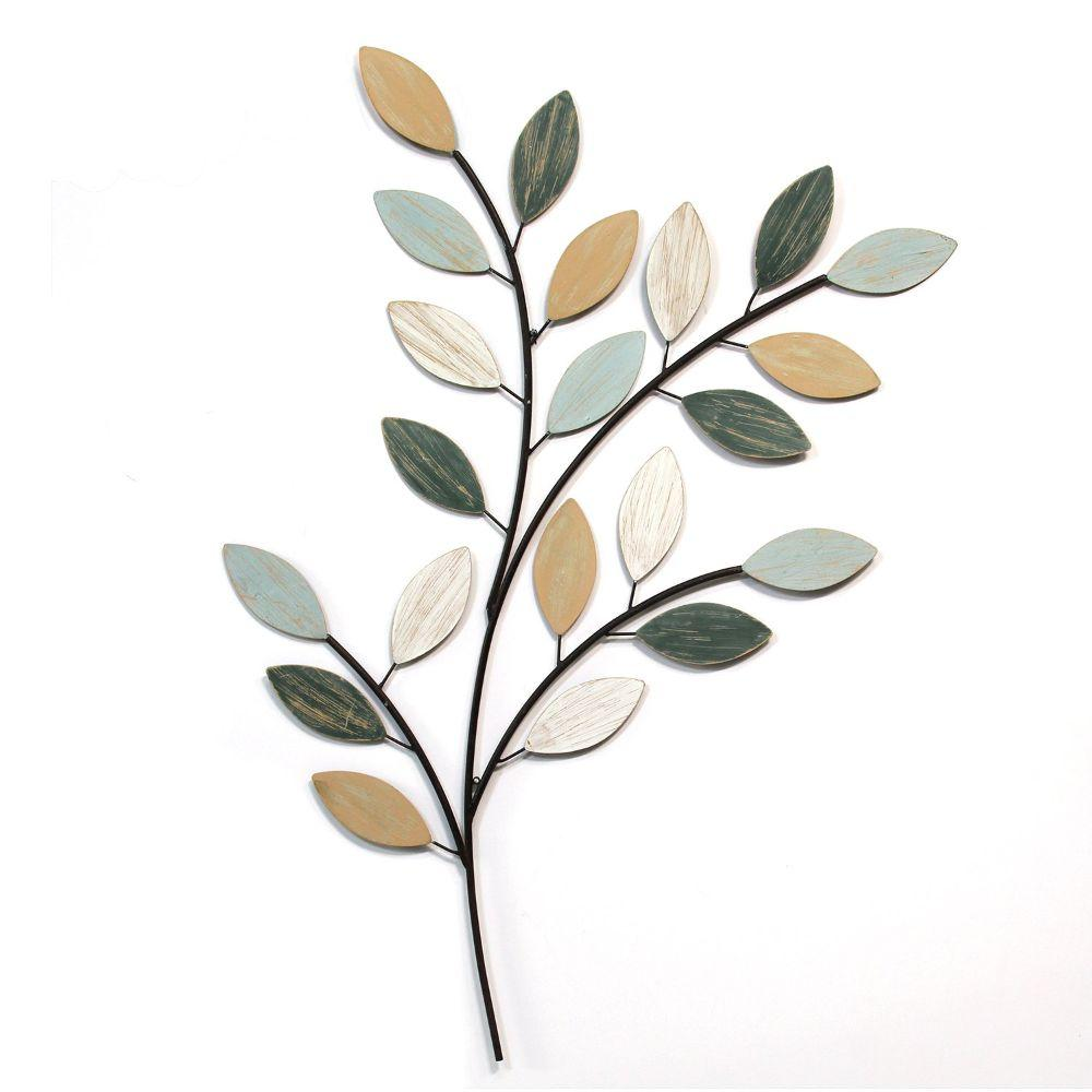 "Multi-Color Botanical Branch Wall Decor (30.91""X0.59""X40.94"")"