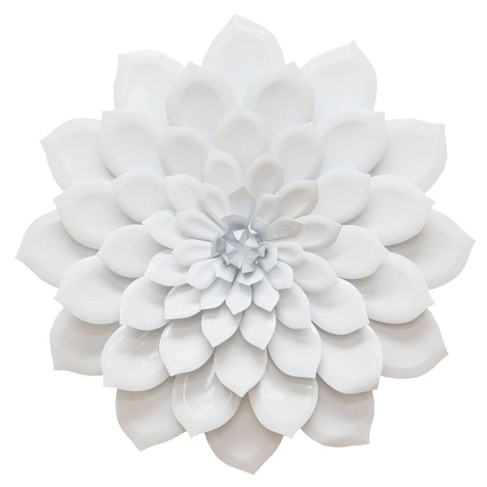 "Layered White Flower Wall Decor (19.88""X3.35""X19.88"")"