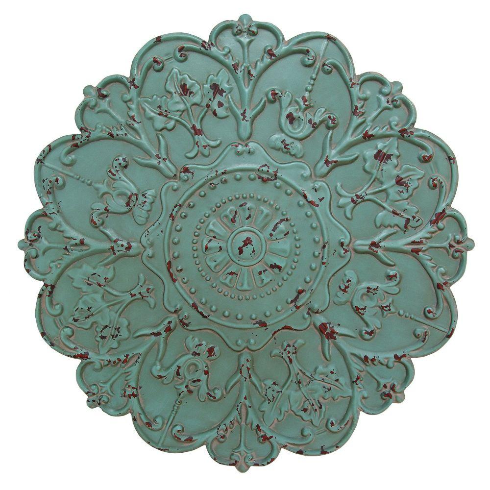 "Shabby Medallion Wall Decor (27""X1.18""X27"")"