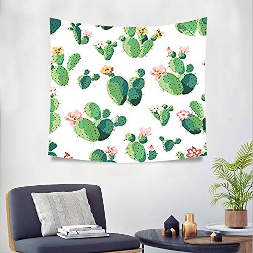 Cactus and Flower Tapestry