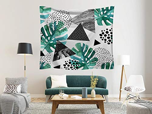 Geometric Monstera Tapestry