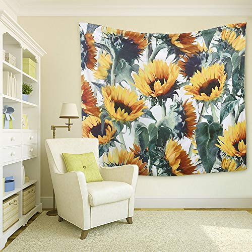 Multiple Sunflowers Tapestry