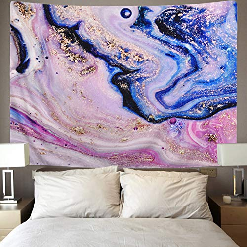 Psychedelic Art Gold Tapestry