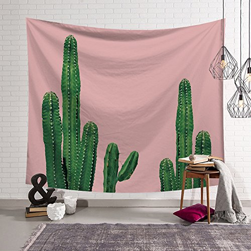 Pink Cactus Tapestry