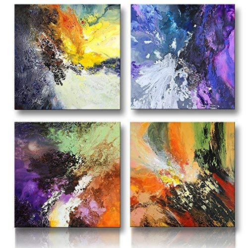 Abstract Painting I 30x30 I Set of 4