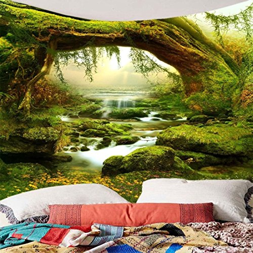 Green Tree Jungle Tapestry