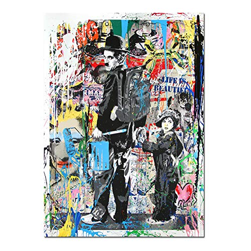 Chaplin Mixed Media Canvas Art