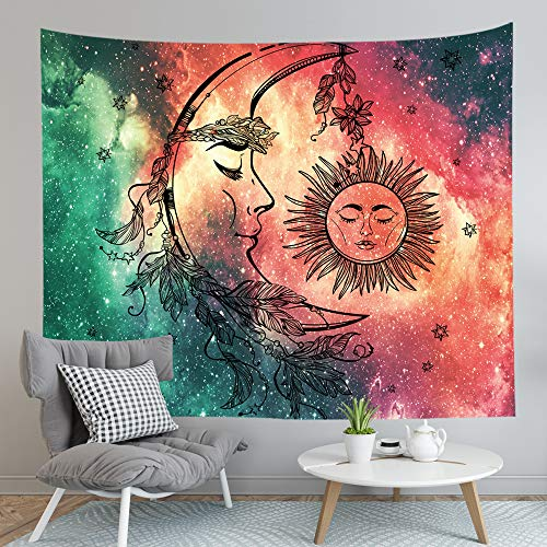 Celestial Moon Sun Wall Tapestry