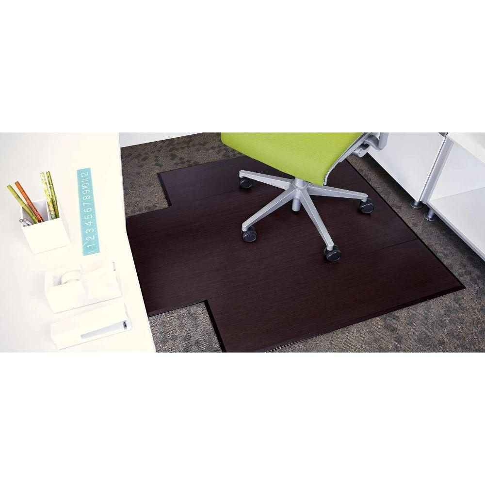 Bamboo Tri-Fold Plush Chairmat, no lip